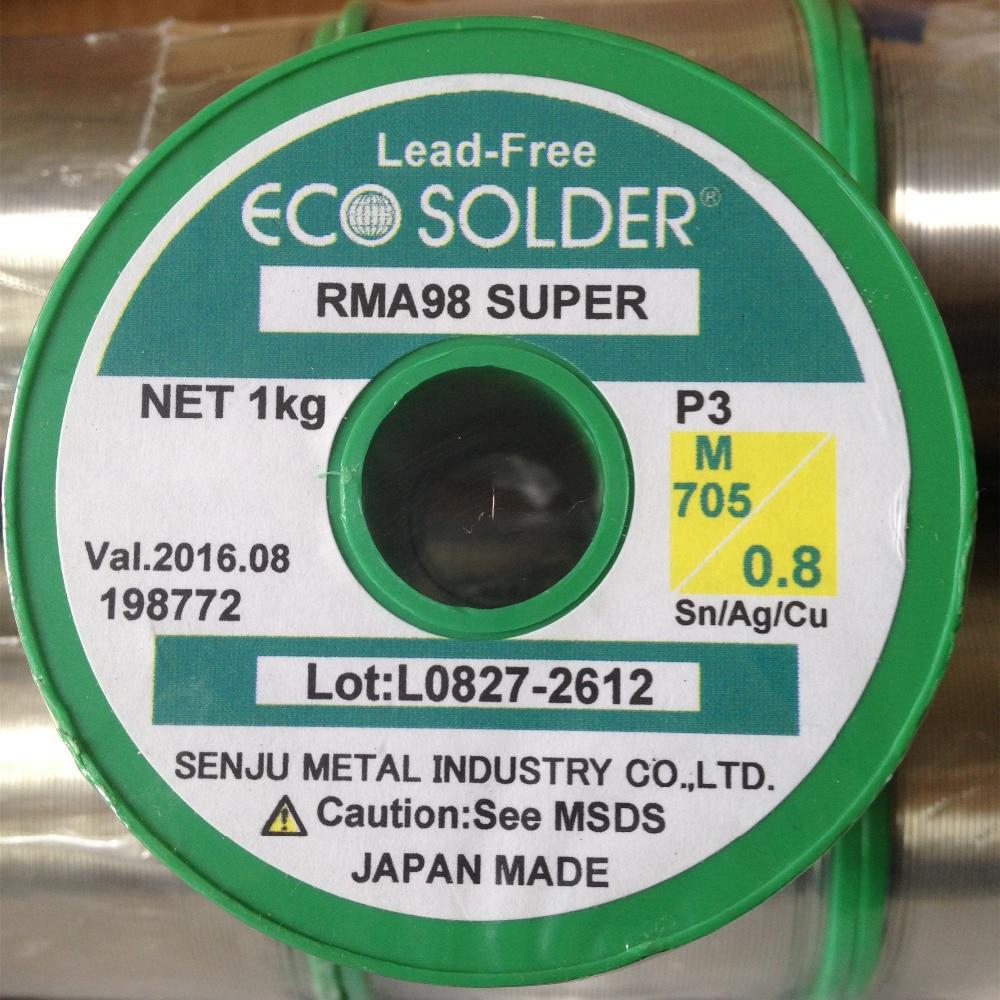 Припой провода M705 Р3 свинца, серебро 3% поделки выбранный припой 0.8 мм провода