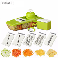 NEW Manual Vegetable Cutter With 5 Blades Carrot Grater Mandoline Slicer Kitchen Accessories Multifunctional Vegetable Cutters