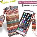Para apple iphone 6 6 s 4.7 más 5.5 correa para el cuello Exquisito Diseño de Moda cuerda de Cuero Caso de la Cubierta de TPU + Bolso de Cuero CALIENTE venta al por mayor