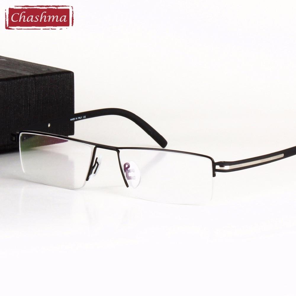 Chashma Classic Design Alloy Eyeglass Half Rimmed Men's Glasses Spectacle Frame Eye Flasses Frames For Men