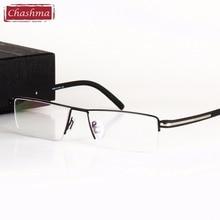 Classic Design Alloy Eyeglass Half Rimmed Mens Glasses Spectacle Frame Eye Flasses Frames for Men