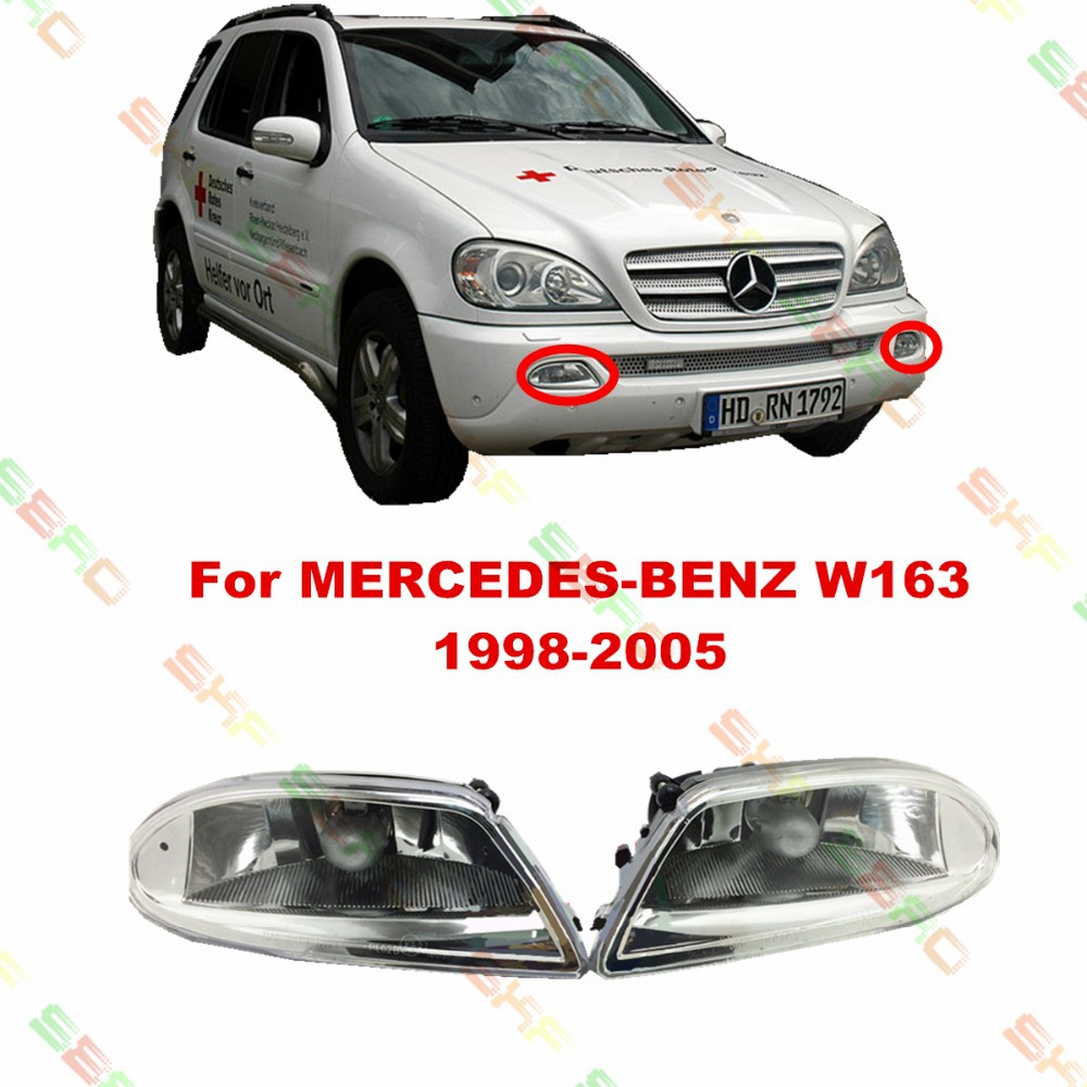 For MERCEDES-BENZ W163  1998/99/2000/01/02/03/04/05  car styling fog lights   1 SET mercedes а 160 с пробегом