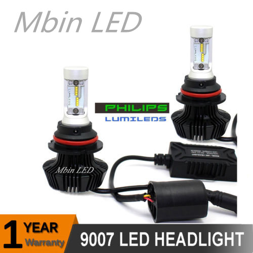 Auto lighter for car 12v Hi/lo beam 9004/9007/HB1/HB5 Ph-s led 8000LM 80W 6000k Fog lamp Headlight DRL replace xenon bulb 1pair car led headlight 9004 9007 hi lo beam 72w fog driving lamp led headlights car hb1 high low beam bulb auto led headlamps