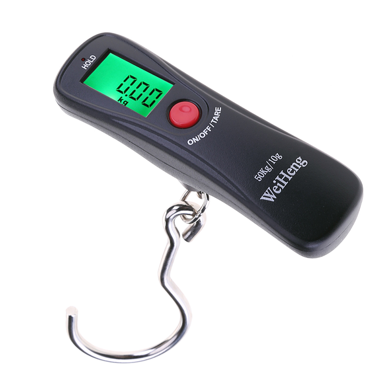 2017 new 50kg/10g Digital LCD Electronic Handheld Luggage Balance Scale Weight Travel Suitcase Weighing 10x electronic portable digital luggage scale handheld travel suitcase weighing 50kg toogoo r