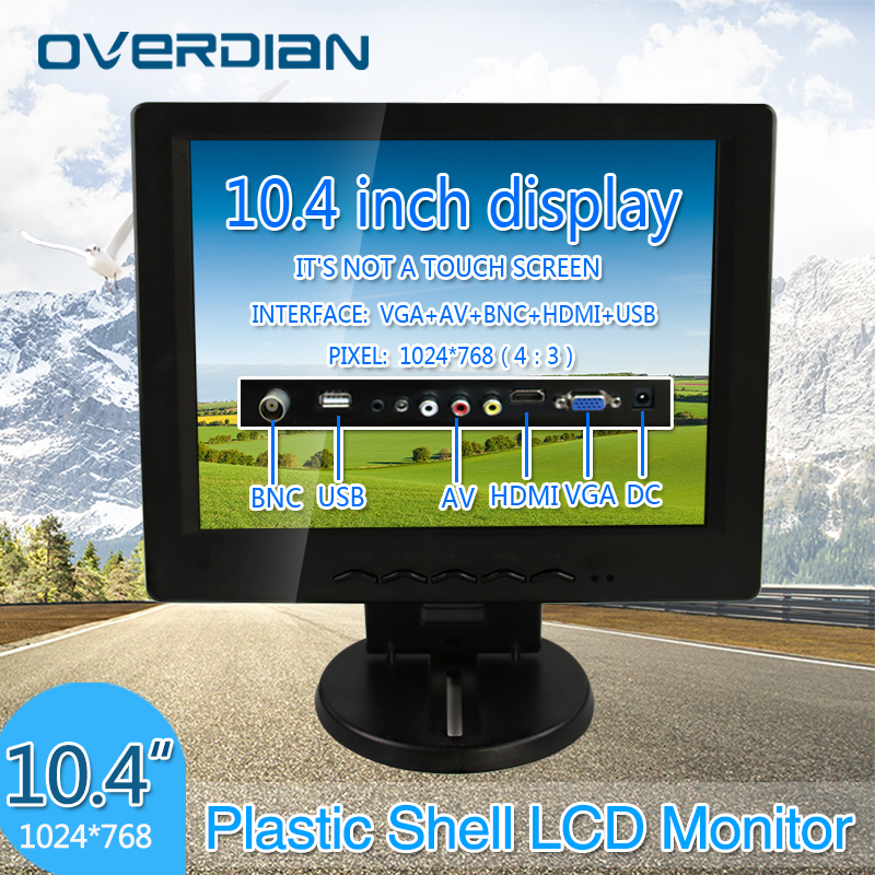 10.4 VGA/HDMI/BNC/AV/USB Connector Monitor 1024*768 Song Machine Cash Register Lcd Monitor/Display Non-touch Screen aputure digital 7inch lcd field video monitor v screen vs 1 finehd field monitor accepts hdmi av for dslr