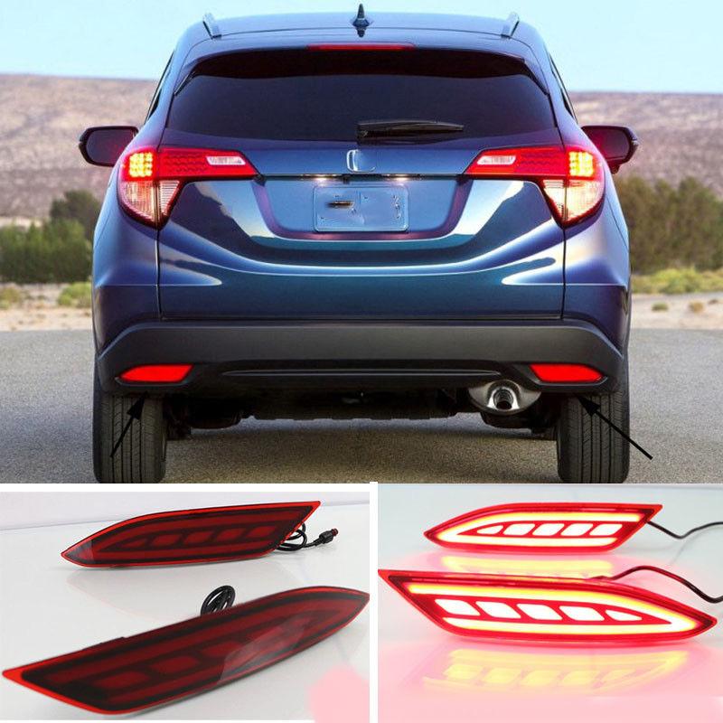 For Honda HRV HR-V Vezel 2015 -2018 LED Rear Bumper Light Drive Brake Light цена