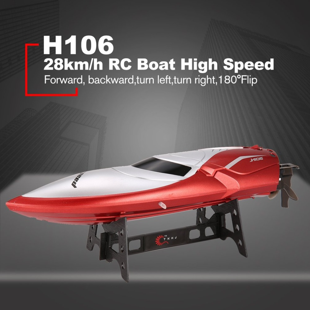 H102 RC Boat High Speed Racing 28km/h Remote Control Boat 180' Flip with LCD Screen as Gift for Children Toy Kid HOT 2018 new brand new rc boat 2 4ghz 4 channel high speed racing remote control boat with lcd screen