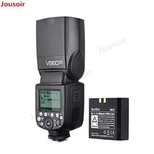 Godox Ving V860II V860II-C 2.4g GN60 E-TTL HSS 1/8000 s Li-ion Batterie Caméra Speedlite Flash pour C DSLR + Softbox Cadeau Kit CD50