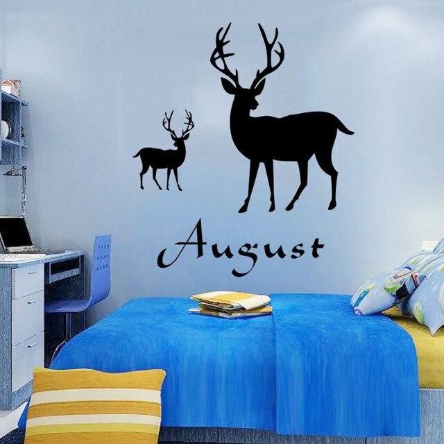 maatwerk gepersonaliseerde naam geit vinyl muurstickers woonkamer decor slaapkamer decoratie u kiezen naam en kleur in maatwerk gepersonaliseerde naam geit