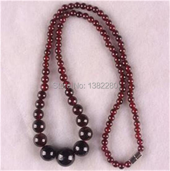 Fashion 2015 ! Style diy Natural 5-11mm Garnet Jewellery Beads Necklace JT5466 S