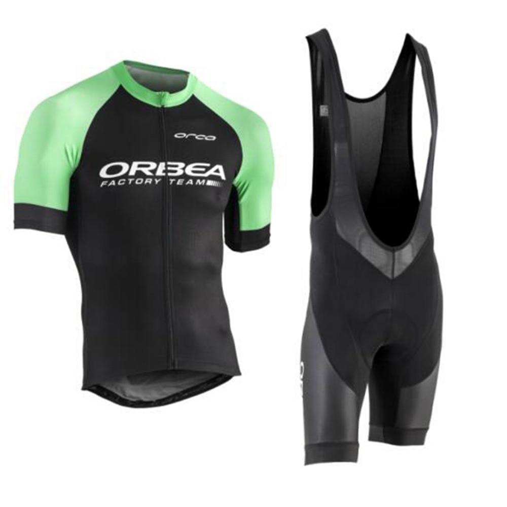 Сайт orbea 2017 Велоспорт летом Джерси команда короткие рукава Велоспорт набор велосипед одежда Ропа ciclismo Велоспорт одежда спортивный костюм коврик 9Д