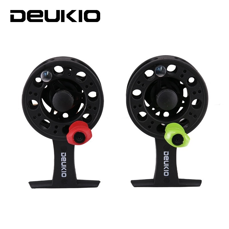 DEUKIO Ice-Fishing-Reel Left-Handle Saltwater Plastic Winter High-Strength Fly Corrossion-Resistant title=