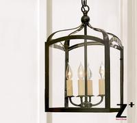 Реплика пункт подвесной светильник led гладить Готический Крытый открытый фонарь стиль кантри Утюг 4 лампы винтажные Ретро лампа