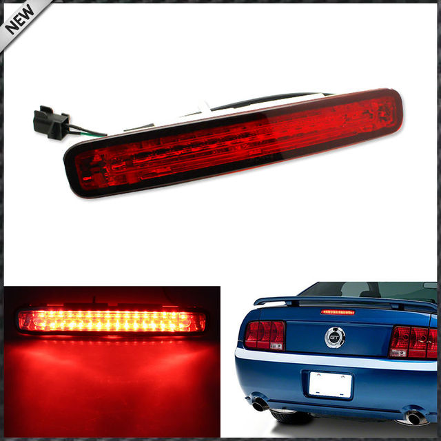 1pc Red Lens Super Bright 16 Led Third 3rd Brake Light For 2005 2009 Ford Mustang