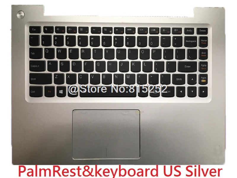 Laptop PalmRest keyboard For Lenovo U430P U430T U430 Touch English US 3KLZ5TALV10 With Touchpad black New upper case new russian ru laptop keyboard for lenovo ideapad u530 palmrest keyboard bezel cover touchpad with backlit 90204072 black