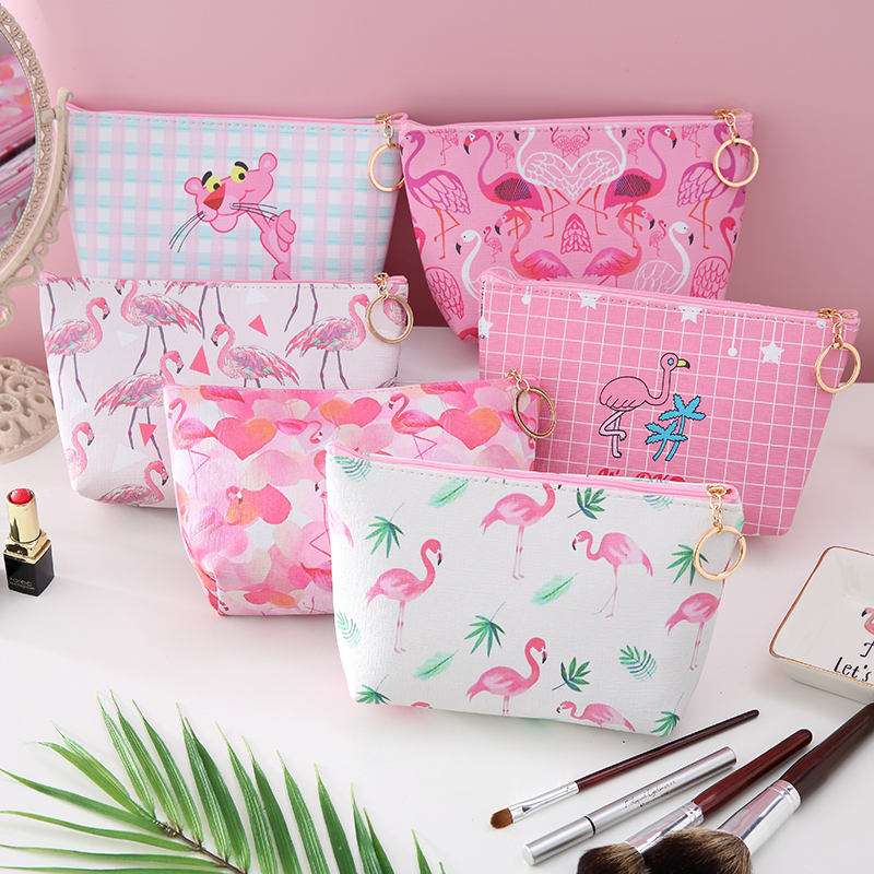 Fashion Animal Flamingo Travel Cosmetic Bag Women Make Up Case Zipper Makeup Organizer Storage Pouch Toiletry Wash Beauty Kit