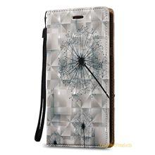 Для Samsung A3 2015 Case Luxury Водонепроницаемый 3D Рельефа Живопись Кожаный Чехол Флип для Samsung A3 2015 Крышка Капа Kilifi