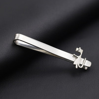 Wholesale 925 Sterling Silver Tie Clip Kangaroo Silver Tie Clip For Men Father Day Gift Christmas