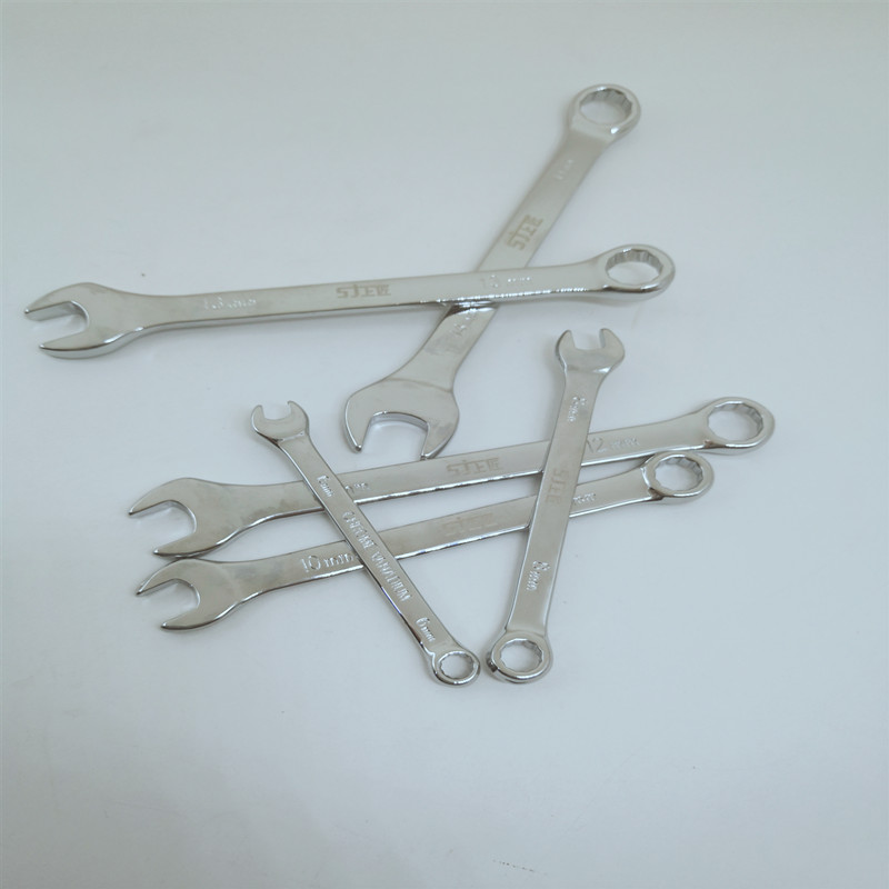 Купить с кэшбэком 6PCS(6,8,10,12,13,14mm)combination wrench set,Reversible Combination Stubby Ratchet Wrench Ratcheting Socket Spanner