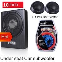 10 дюймов 900 Вт автомобильный под сиденьем сильный тонкий сабвуфер авто супер бас автомобильный аудио динамик активный сабвуфер встроенный