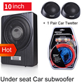 10 inch 900w Car Under Seat Strong Slim Subwoofer Auto Super Bass Car Audio Speaker active Woofer Built in 150W Amplifer Speaker|Enclosed Subwoofer Systems|   -
