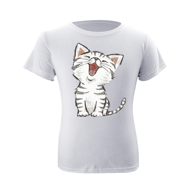 96bf329500f Summer T-shirts New Cotton O-neck Short Sleeve Men Fashion Trends Fitness T  shirt Tops Oversize Cute Soft Sweet Home Cat Print