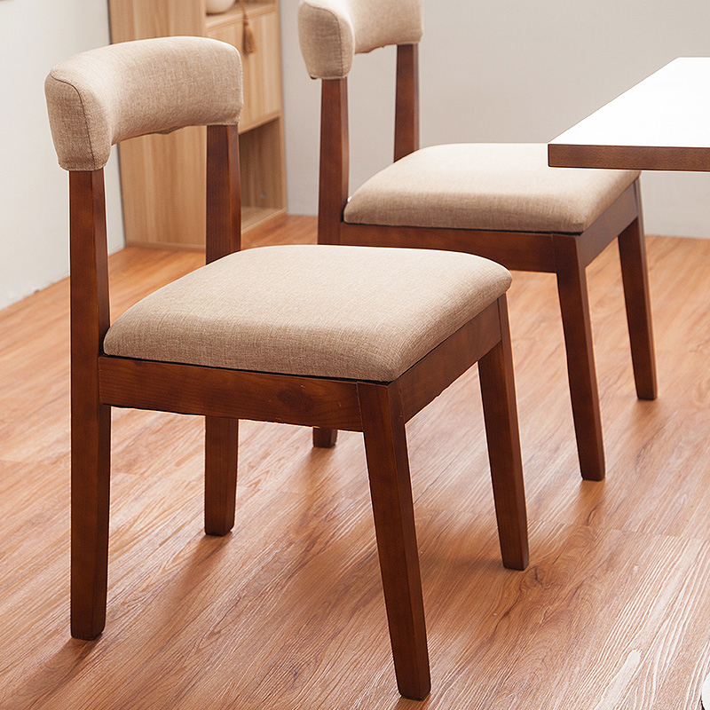 New 100% wood dining chair pure cotton cloth idyllic sitting room chair coffee chair computer chair wooden living room furniture hot leisure chair cloth western dining chair coffee chair soft dining chairs wooden living room furniture wood leg bar stool