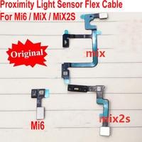 원래 proxi mi ty 주변 광 센서 플렉스 케이블 거리 감지 커넥터 xiao mi 6 mi 6/mi mi x mi mi x/mi x 2 s mi x2s