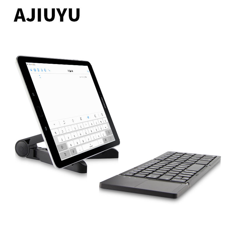 цена на Three folded wireless Bluetooth Keyboard For Dell Venue 8 10 Pro 11 7 7840 3840 3830 5830 5130 3845 7130 Tablets keyboard Case