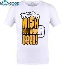 """Amazing """"Wish you were beer!"""" men's t-shirt"""