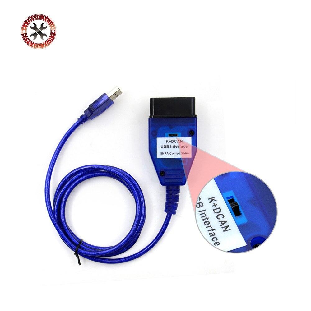 Prix pour Nouvelle Arrivée Pour BMW INPA K + Dcan Avec Interrupteur inpa k peut USB OBD2 Interface INPA Ediabas Pour Plus Facile À UTILISER