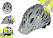 MTB AM helmet bicycle off-road/downhill racing helmet Cycling Laplace XXEPU Integrally-Molded Helmet 56~59cm 330g 18holes