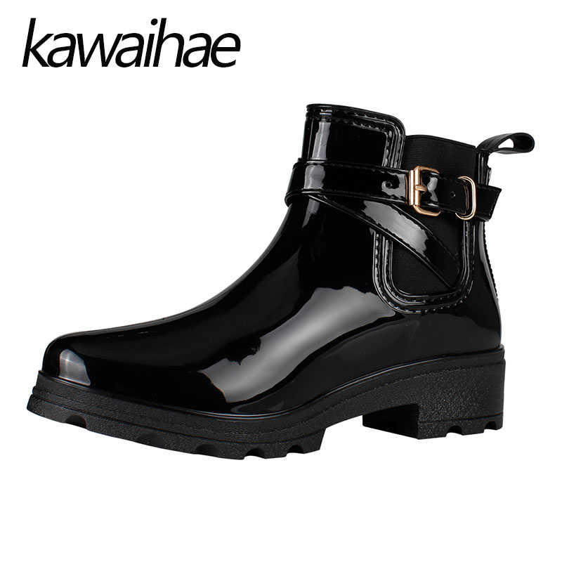 Pointed Toe Women Boots Rubber Shoes Female Waterproof Rainboots Kawaihae Brand Martins труборез ridgid 23488