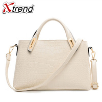 Brand Luxury Shiny 4 Color Alligator Designer Tote Bags For Women High Quality PU Leather Female Handbags