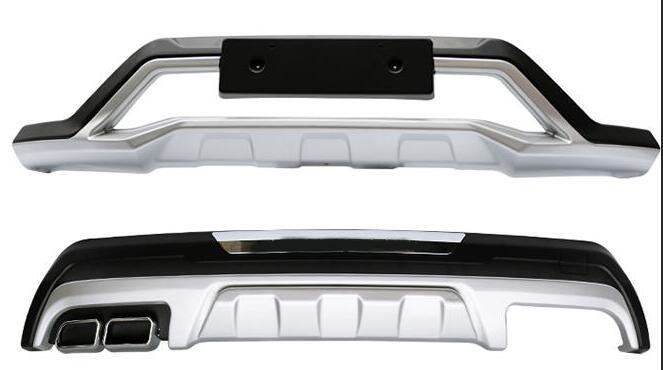 Di alta qualità in plastica ABS Chrome Anteriore e posteriore Imbottiture e Paraurti Skid Protezione Stampaggio 2 pz Per 2016 per Hyundai Tucson (anteriore + posteriore)