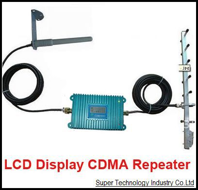 LCD Display Function Model 980 CDMA 850Mhz Signal Booster W/ 15 Meters Cable+Antennas,850Mhz CDMA Repeater Signal Amplifier