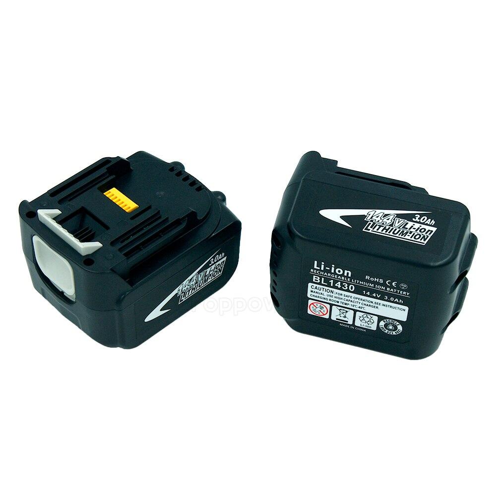2 pcs/lot 14.4 V 3.0Ah batterie de remplacement d'outils électriques Lithium-Ion pour Makita BL1430 DA340DRF BDF343 194065-3 194066-1 BL1430