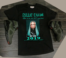 Billie Eilish World Tour 2019 with Special Guest DENZEL CURRY T-Shirt Size S-3XL T Shirt for Men/Boy Short Sleeve Cool Tees цена