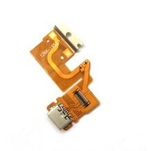 Carregador de entrada usb para sony xperia tablet, entrada de conector flexível para tablet z sgp311 sgp312 sgp321