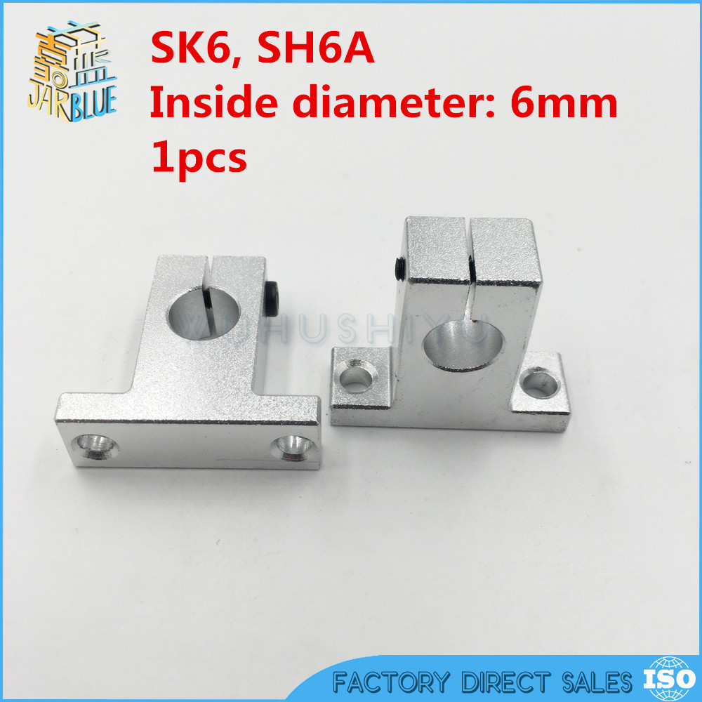 NEW SK6 6mm Linear Shaft Support CNC Router SH6A for 6mm linear rail rod new sk6 6mm linear shaft support cnc router sh6a for 6mm linear rail rod