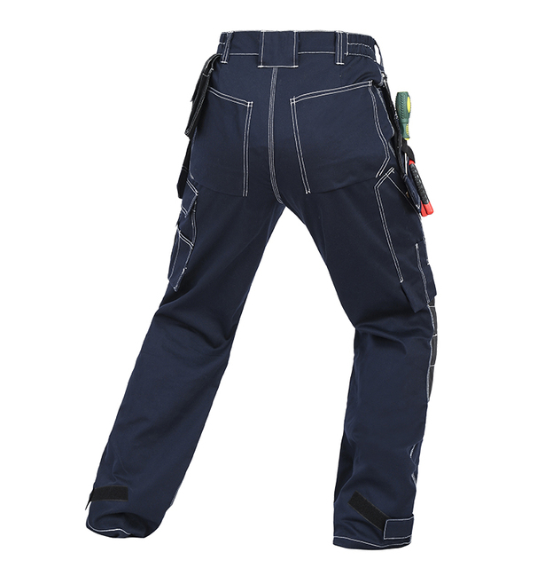 Bauskydd Mens carperner 100% cotton durable multi pockets work trousers with eva  knee pads work pant workwear  free shipping 2