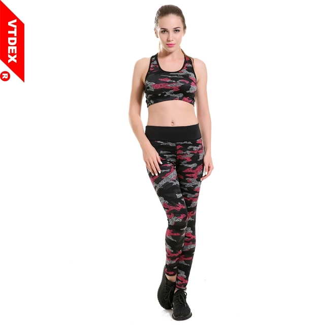 VTDEX Camouflage Jogging Pants Women 2017 Pantalones Mujer Yoga Pants  Pattern Girl Leggings Elastic Fitness Tights