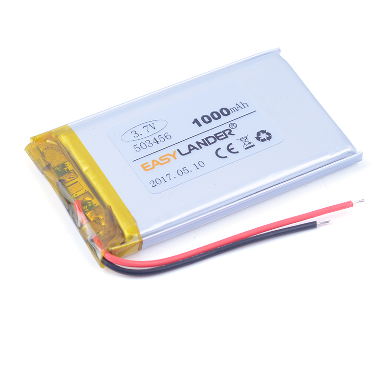 503456 503356 <font><b>3.7V</b></font> <font><b>1000mAh</b></font> Rechargeable lithium Li-Polymer <font><b>Battery</b></font> For gps tracker DVR MP4 MP5 DVD H503456 503455 503555 image