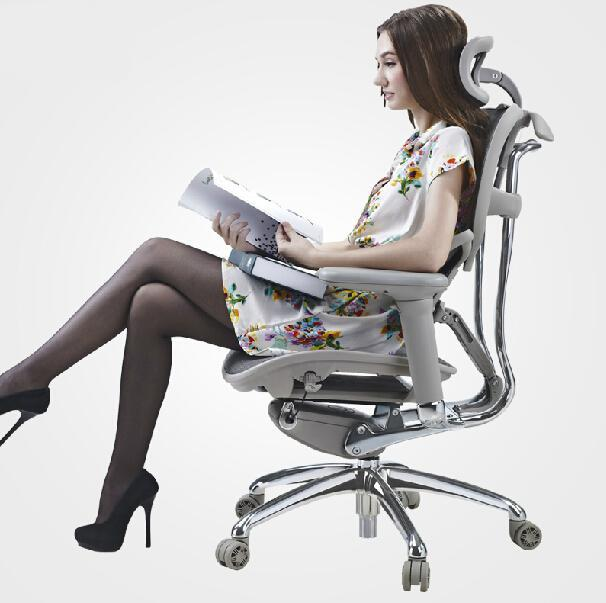 Ergonomic Computer Chair Green Velvet Swivel High Mesh Chairs Office Comfort Waist Engineering