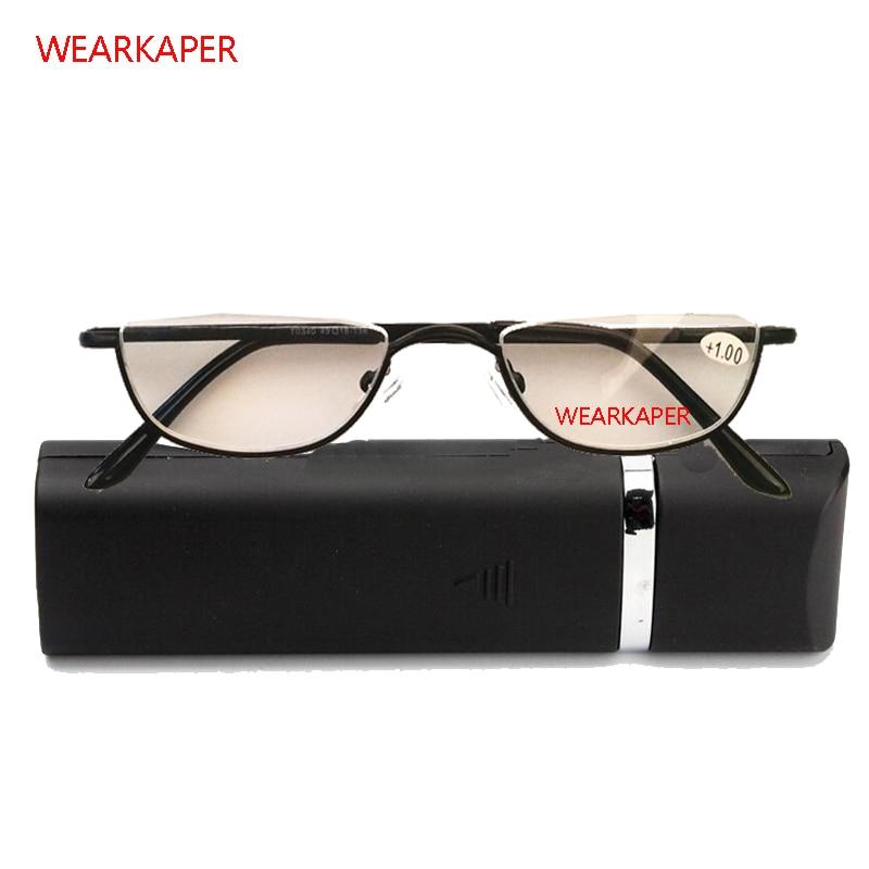 3fd9c1882c WEARKAPER Anti-fatigue Half Alloy Frame Reading Glasses Men Women Cat Eye  Glasses Reading Glasses