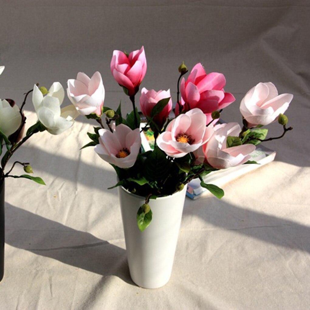 Decorative Simulation Flowers Magnolia Wedding Flower Silk