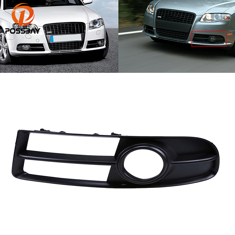 POSSBAY Car Front Bumper Lower Left Side Fog Light <font><b>Grille</b></font> for <font><b>Audi</b></font> <font><b>A4</b></font> <font><b>B7</b></font> Sedan S-Line 2005/2006/2007/2008 Fog Lights image