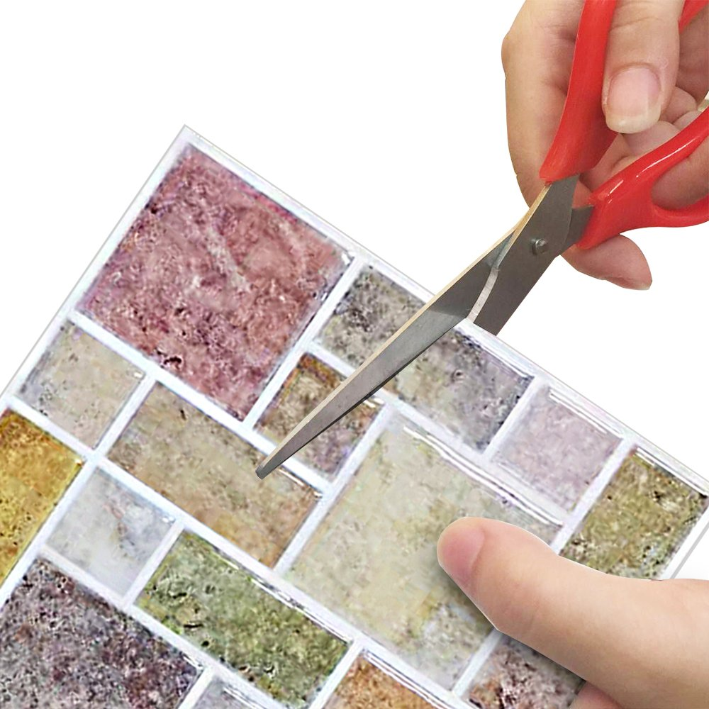 Vinyl Wall Tile High Quality Self Adhesive 3d Mosaic Wall Kitchen Tile Backsplash Self Adhesive And Removable Laser Tile