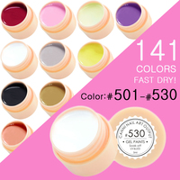 CANNI Nail Painting Gel Varnish 141 Pure Colors Gelpolish UV LED Soak Off Gel Nail Polish Color(501- 530)