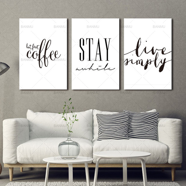 Canvas schilderij wall art Inspiratie Quote Canvaskunst Schilderen ...